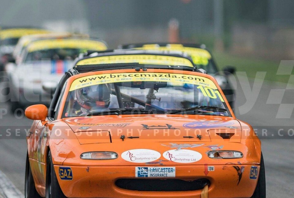 Simon Woods Orange Car No 101, 4th season and looking for top 10 finishes