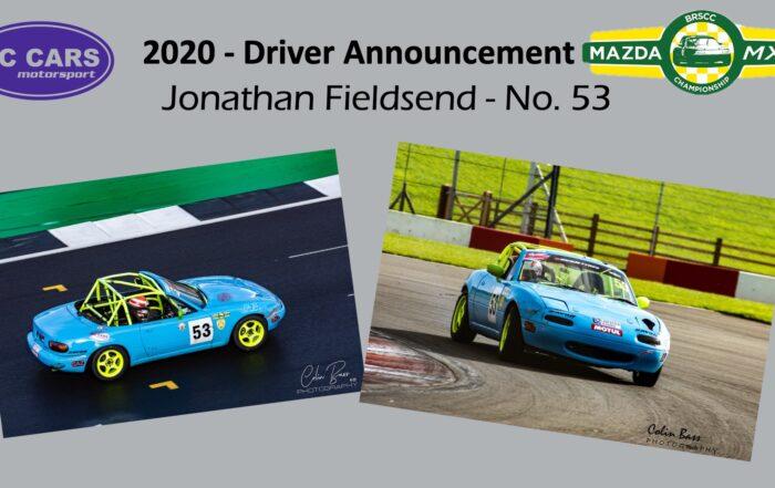 Driver profile - Jonathon Fieldsend